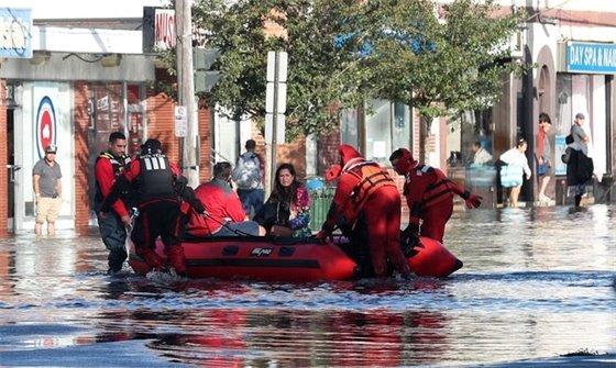 Flooded Mamaroneck Avenue
