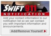 Swift 911 Logo on our website's homepage