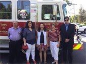 Town Board members in front of new Engine 36
