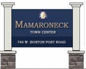Rendering of new signage for Mamaroneck Town Center