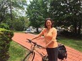 Town Supervisor Nancy Seligson Biking to Work