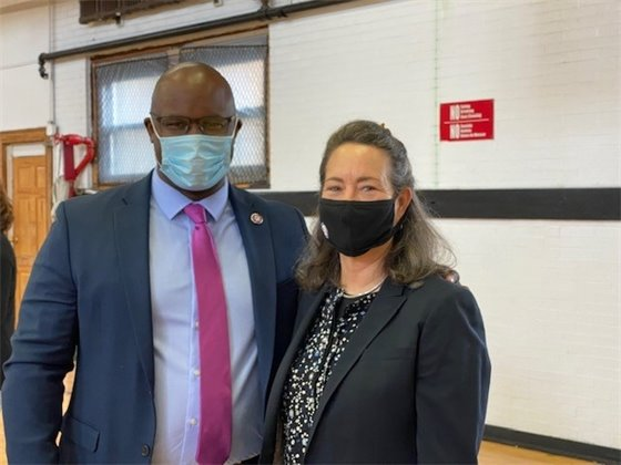 Congressman Jamaal Bowman with Nancy
