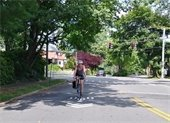 Cyclist on Forest Avenue