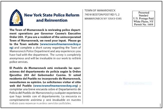 Police Reform Survey Postcard