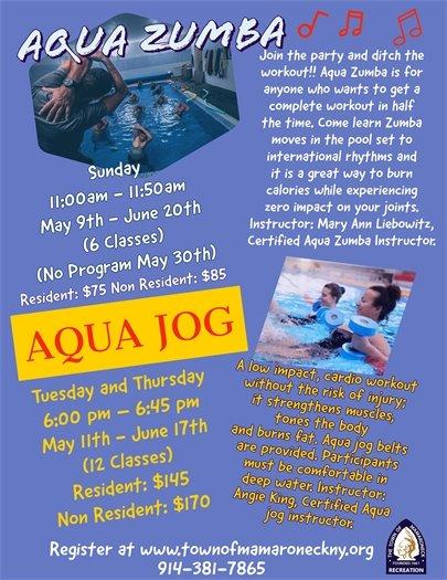 Aqua zumba and jog