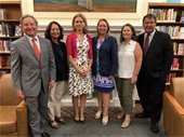 Library Board Chair Pamela Dubitsky with elected officials