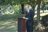 US Congressman Eliot Engel at Town's September 11th Memorial
