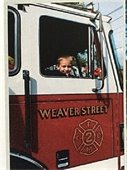 Child in Town of Mamaroneck Firetruck