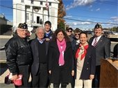 Members of Town Board with Veterans at American Legion, Mamaroneck