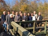 Hommocks Conservation Area -- Clean Water Infrastructure press event with NY State Assemblyman Steve Otis and business, union and environmental leaders