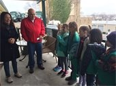 Local Girl Scouts touring Maxwell Avenue Recycling Facility