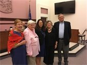 Nancy with Former Town Supervisors