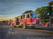 Town firetruck at Fire Department Parade, courtesy of LMC-TV
