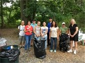 Clean-up Volunteers with Nancy and Conservation Department's Liz Paul