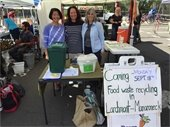 Town Supervisor Nancy Seligson with Volunteers Karen Khor and Arlene Novich at Larchmont Farmers Market