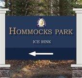 New signage Hommocks Rink