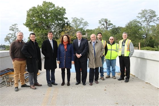 "New Rochelle and Town officials on ""Red Bridge"""