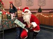 Santa Visits Town Center