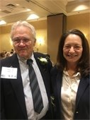 Supervisor Seligson with Westchester Senior Citizens Hall of Fame Honoree George Roniger
