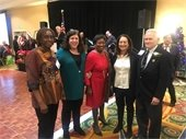 Honorees George Roniger and Coralie Joseph with NYS Senate Majority Leader Andrea Stewart Cousins, Deputy Supervisor Jaine Elkind Eney and Nancy
