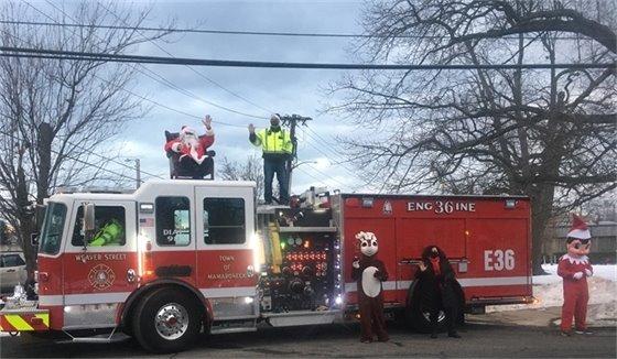Santa on TMFD truck
