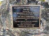 De Lancey Cemetery plaque