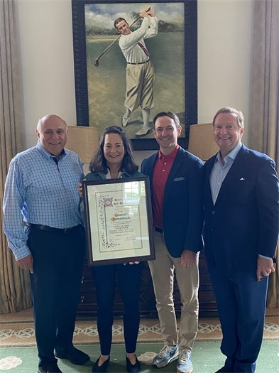 Nancy with Steve and USGA/Winged Foot