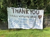 Thank you Sign on Weaver