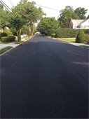 Newly paved Town road
