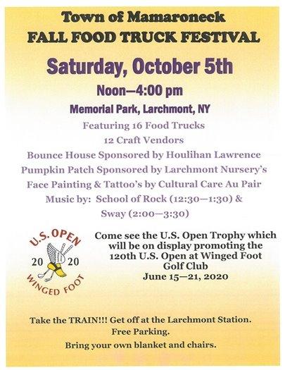 Fall Food Truck Festival flyer