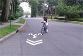 Cyclist on Rockingstone Avenue