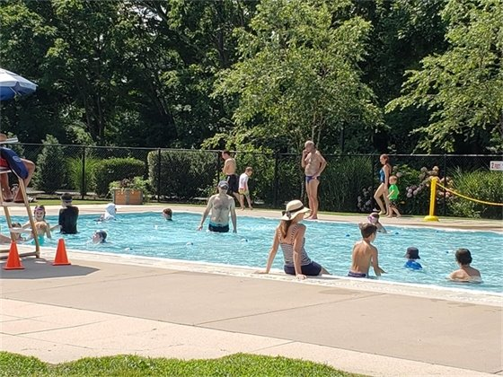 Residents Enjoying Hommocks Pool