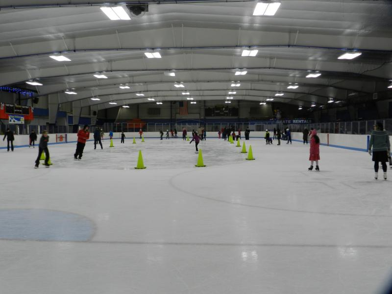 Ice Rink Being Used
